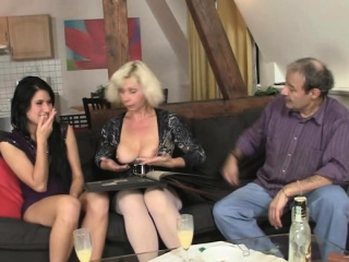 Very old parents seduce son's girlfriend into sex