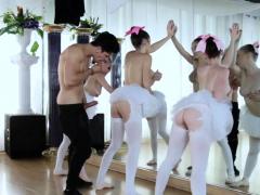 Anaal creampie en groep Ballerina's van het College meisje en groep Ballerina's