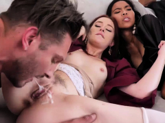 The Fuck-a-thon Finishes With A Sizzling Jizz Facial Cumshot For The Delinquent Teens