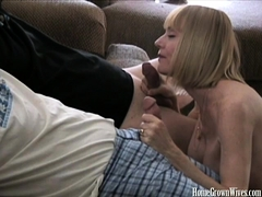 Melanie Sky Gets On Her Knees To Work Two Cocks