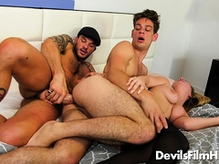 Marcy Marx, Michael Del Ray And Cliff Jensen Bi-curious Threesome