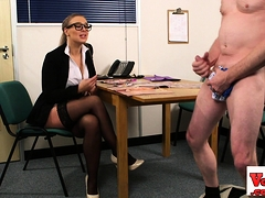Cfnm Honey Penalizes Dork In Hidden Cam Wank