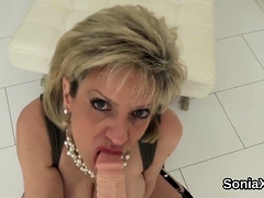Unfaithful Brit Cougar Gal Sonia Flaunts Her Enormous K12fgk