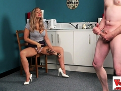 Stunning Female Dom Light-haired Showcases Off Her Panties