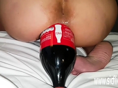 Giant Assfuck Cola Bottle Plumbed Amateur