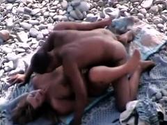 Mature Duo Pummels At Nudist Beach Voyeur Spycam