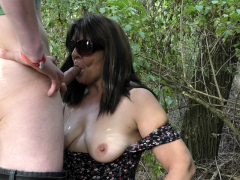 Busy Outdoor Jizm Fuckslut In Summer 2019
