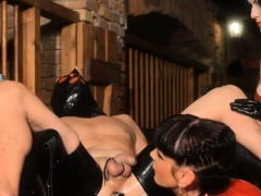 Wicked Domina Binds Up Her Serf And Gives Him A Tugjob