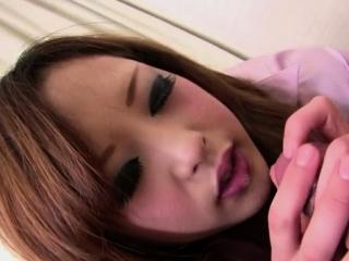 Sweet japanese girlie Aya Nanjo gets juicy slit fucked