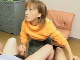Gorgeous oriental playgirl sucks hard