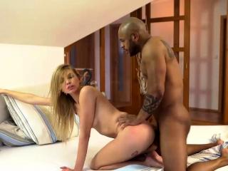 BLACK4K. Huge dick penetrates smooth vagina of white