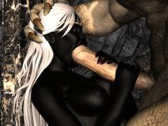 3d Creatures Plumb Captive Girls!