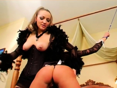Hot Female Domination Fetish Act With Wonderful Honey Thrashing Lad