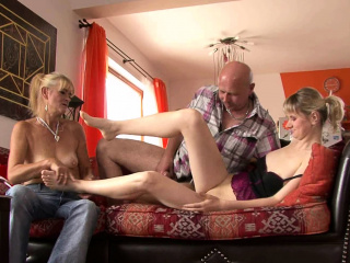 Old mother and dad seduces her into family sex