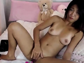 Horny asian solo masturbation