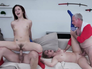 Hot gals getting their pussies pummeled