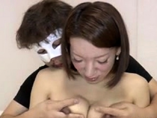 Busty Japanese slut nipples teased