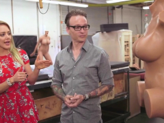 Kate takes us to a factory where the sexdolls are made
