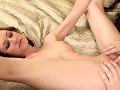 Luxurious redhead kyra gets pie drilled