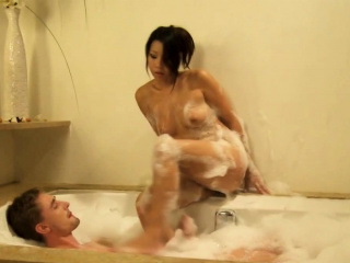 Asian MILF Naked With White Lover