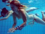 Marusia and Melisa Darkova underwater lesbos