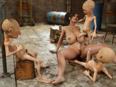 3d Lara Croft Demolished By Creatures!