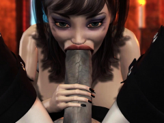 3d Dickgirl Witch Pounds Rock Hard A Fabulous Damsel In The Dark Castle
