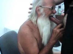 Daddy Santa Paul Gobbles Breakfast