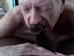 Grandpa Deep-throats And Licks Cum