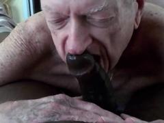 Grandpa Deep-throats And Licks Cum