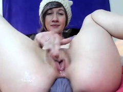 Big tit MILF rubbing toying and blowing pov