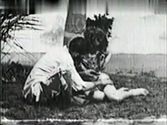 Vintage Outdoor Porn With A Hairy Couple