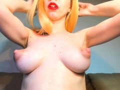 Horny Red-haired Faps Her Vulva Close Up