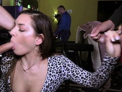 German Public Hookup Displaying In Casino With First-timer Teen