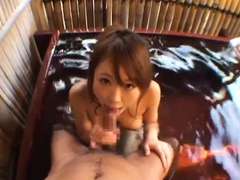 Japanese hairy snatch licked and fingered in close up