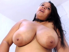 Busty Damsel Tormenting Her Nipples