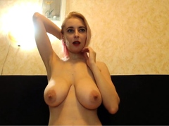 Cute Buxom Light-haired Getting Her Nips Sucked
