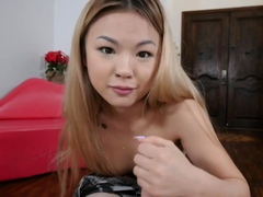 Petite asian stepsis is fingered by stepbro and deepthroats