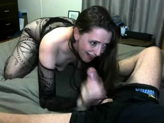 Double Web Cam Super-naughty Female Providing A Fine Hj To Cumshot
