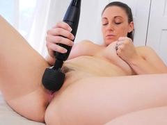 Busty Ashley Robbins Outdoor Fake Penis Masturbation