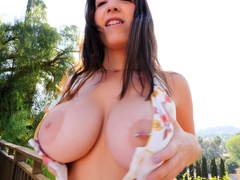 Busty Fat Bap Brown-haired Honey Stroking In Super-hot Solo