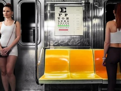 Upskirt Flashing in Subway. Virtual reality with Jeny Smith