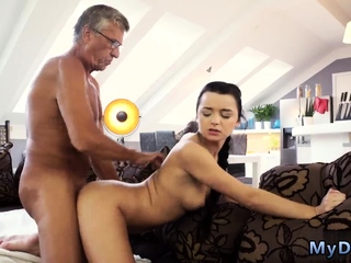Latino daddy bear and old grandpa cum compilation What
