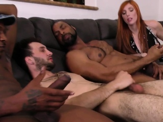 Black hunks in threesome