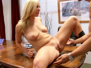 Secretary Girl Natalie and Co-Worker Cheating Fuck in Office