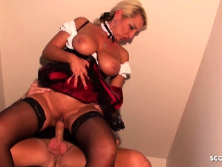 German Big Hanging Tits Oktoberfest Stepmom Fuck by own Son