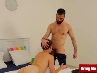 BRINGMEABOY Jacob Dolce Measured by Daddy Before Bareback