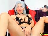 Big Tits Babe Masturbates on Cam