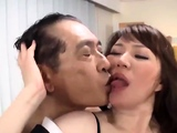 Kinky double Japanese blowjob and hardcore fucking