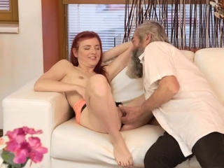 Skinny hairy old woman Unexpected experience with an